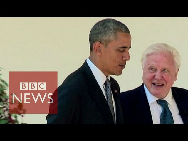 Obama told by Sir David Attenborough how to save planet - BBC News