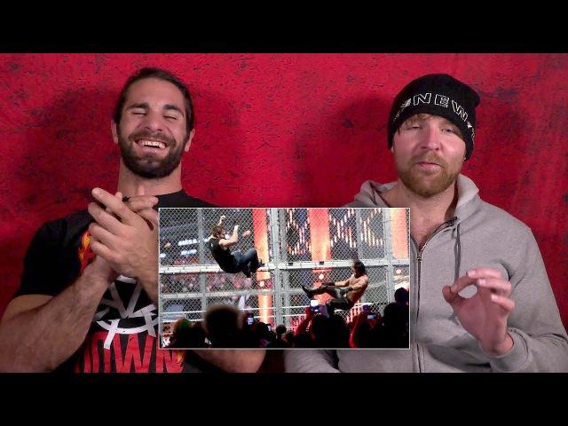 Сэт Роллинз и Дин Эмброуз смотрят свой матч с Hell ina A Cell