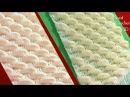 Bufanda a Crochet en punto gajos de lima limón en 3D tejido tallermanualperu