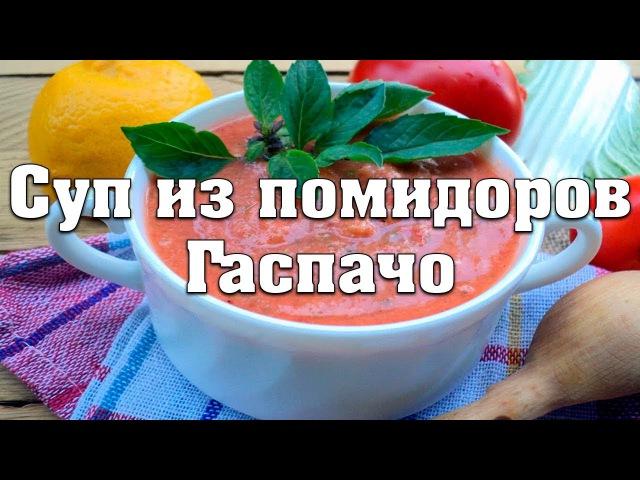 Как приготовить суп из помидоров Гаспачо. Рецепт супа из помидоров