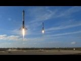 SpaceX Falcon Heavy - Full Launch (T-45 seconds till end)
