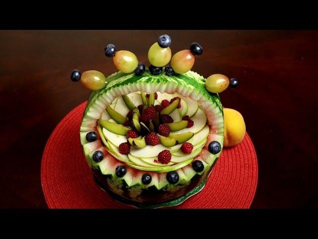 Как красиво украсить арбуз на стол
