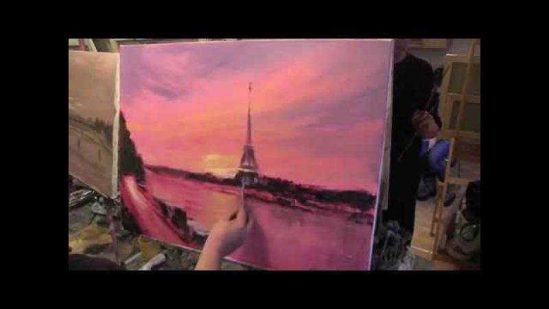 Уроки живописи в Москве, Питере Пишем Париж с Игорем Сахаровым