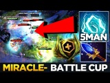 Miracle- first Battle Cup on Dota Plus - EPIC 5MAN