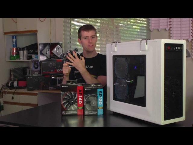 Linus Tech Quickie: Corsair Air Series high-airflow fan demonstration