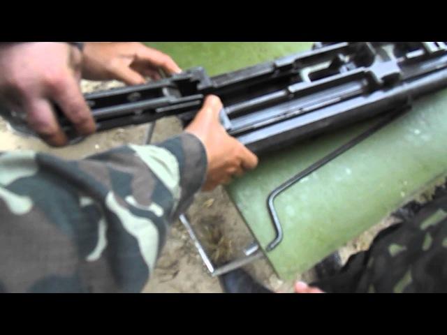 Сборка автомата 2А14 от ЗУ-23 (видео 2)