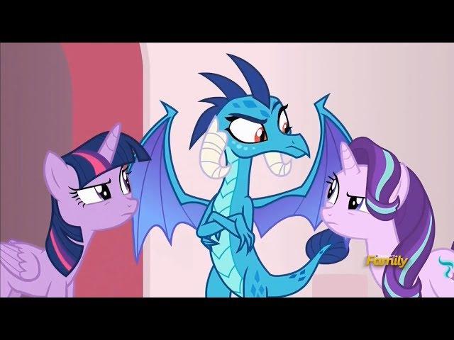 Пони: сезон 7, серия 15 - Перевёртыш и Лорд Драконов посетили Понивиль, шутки Старл ...