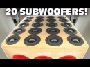 BIGGEST 6.5 Subwoofer Setup EVER!! 20 SUNDOWN Subs w/ Sound System DEMO 2 12 Ported Subwoofers