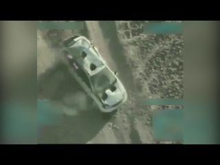 U.S. A-10 strafing a Taliban vehicle