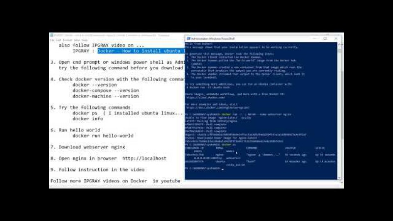 IPGRAY Docker How to install webserver nginx in Docker Container in windows