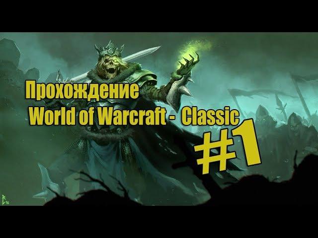 Разбойник Undead Прохождение World of Warcraft Classic 1 Начало