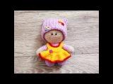 Платье для пупсика Йо-йо. Мастер-класс крючком (crochet doll dress).
