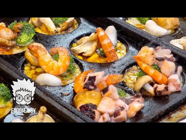 가오슝 루이펑 야시장 대왕 타코야끼(King Takoyaki) Taiwanese Street Food Kaohsiung Taiwan