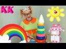 Учим цвета радуги Уроки Клавы с Эмбер из Поли Робокар Мультики про машинки
