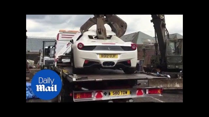 Ferrari crushed after police seize uninsured supercar - Daily Mail