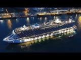 MSC SEASIDE  leaving Monfalcone forever  amazing horn battle yard vs. ship  4K-Quality-Video