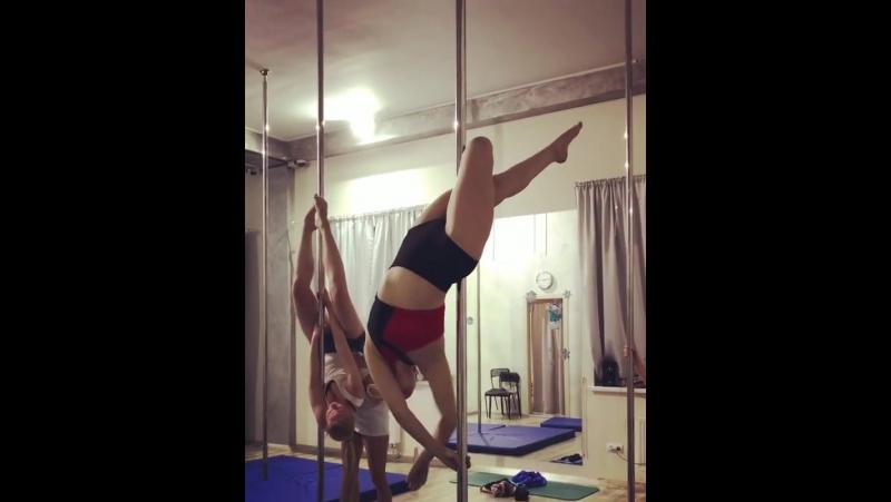 Видео с занятий Pole Sport от ученицы Елены @schegolkova elena