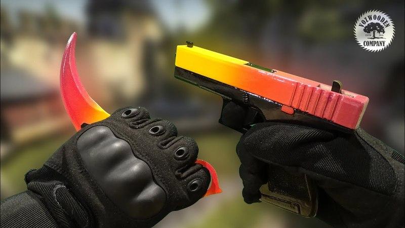 Лучшие деревянные пистолеты! - Обзор резинкострелов Glock-18 от VozWooden