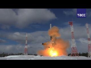 Испытания 'Сармата' на космодроме Плесецк