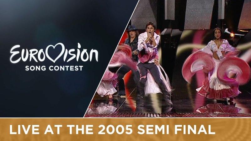 Ivan Delfin - Czarna Dziewczyna (Poland) Live - Eurovision Song Contest 2005