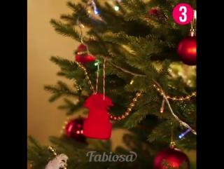 Рождественские игрушки на ёлку из фетра своими руками!