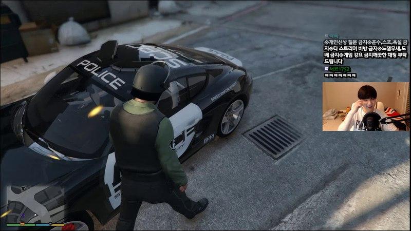 【GTA5】포르쉐가 경찰차로!! 미국 경찰이 뭔지 보여준다!! - 【장파】