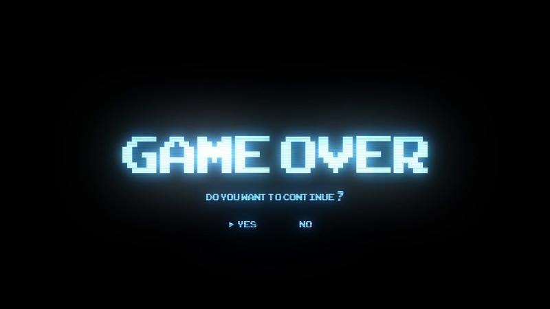Ты сделал не правильный выбор, прощай [the game is over]