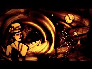 Sand animation White Angel by Kseniya Simonova - Песочная анимация Белый Ангел Ксении Симоновой