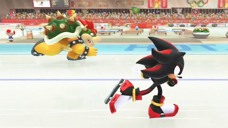 Mario and Sonic at the Sochi 2014 Olympic Winter Games Speed Medley Wii U