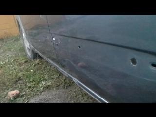 Удаление вмятин без покраски, до ремонта. Стоимость работы за обе двери 5тр.