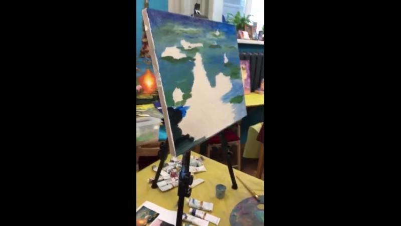 Видео с МК по живописи!