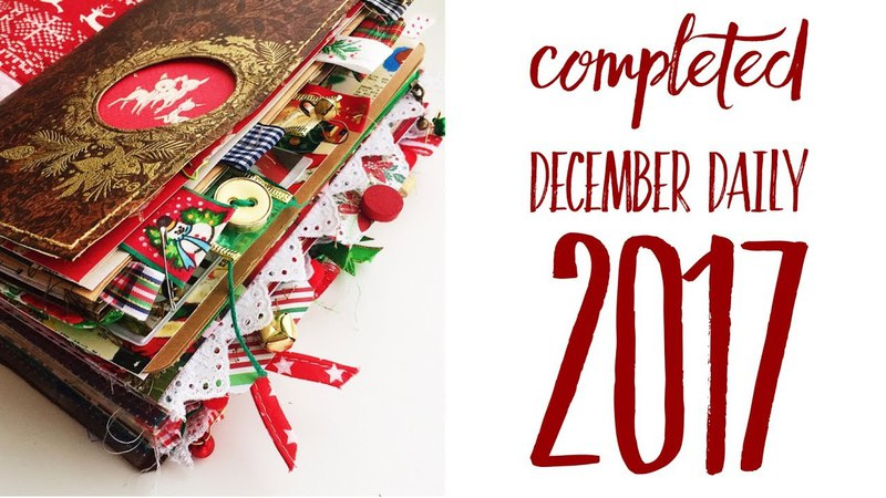 Completed December Daily 2017   Traveler's Notebook   Flip Through