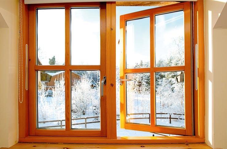 Окна деревянно-алюминиевые