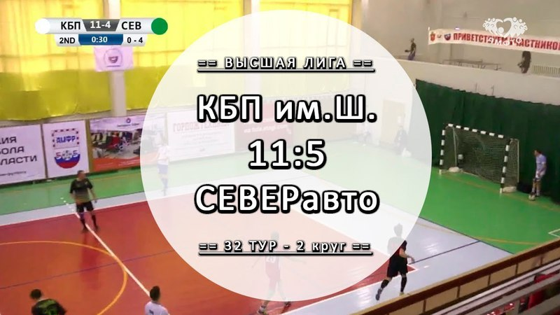 КБП им.Шипунова 11:5 СЕВЕРавто - Обзор матча - 32 тур Вышка ЛЛФ