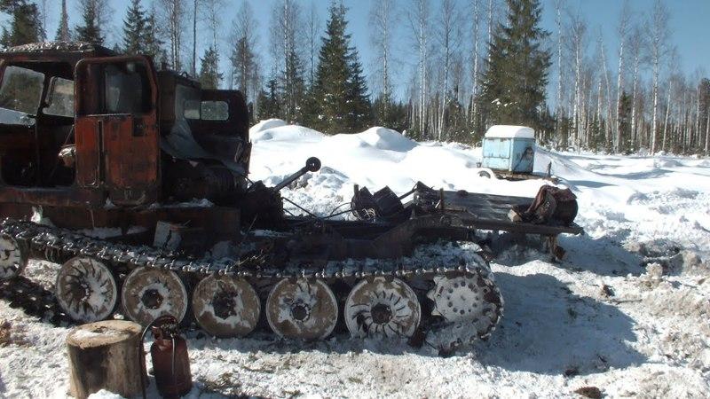 ТТ-4 Ремонт Кпп Работа на лесоповале...