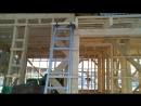 Строительство каркасного дома 22 й день