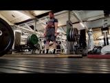 Том Мартин тянет 120 кг, 160 кг,200 кг,240 кг, 280 кг, 320 кг, 360 кг, 400 кг в кистевых лямках