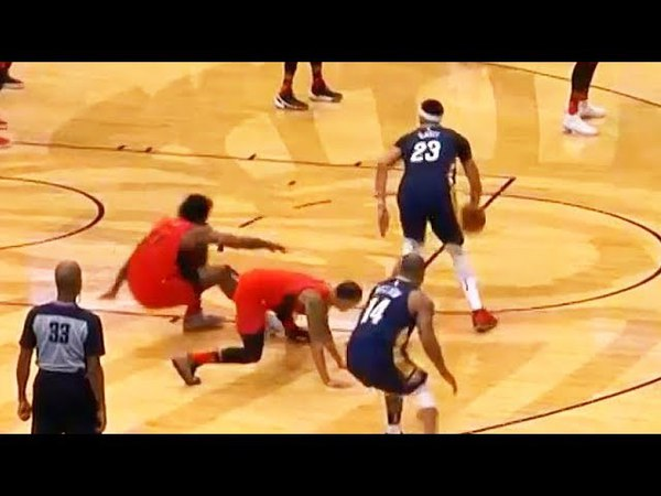 Anthony Davis ANKLE BREAKS 2 NBA PLAYERS AT THE SAME TIME