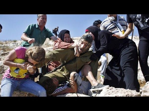 Palestinian women teenage girl bite fight off IDF soldier trying to arrest 12 yo boy