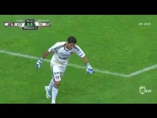 Ужасная травма вратаря из чемпионата Мексики