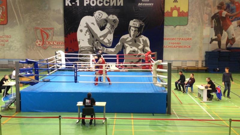 Абдул Эльдарханов - Чемпионат России по K1 победа по очкам.
