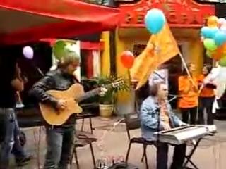 Sergey Manukyan and Sasha Rodovsky on the Arbat. Moscow. - Funk Blues