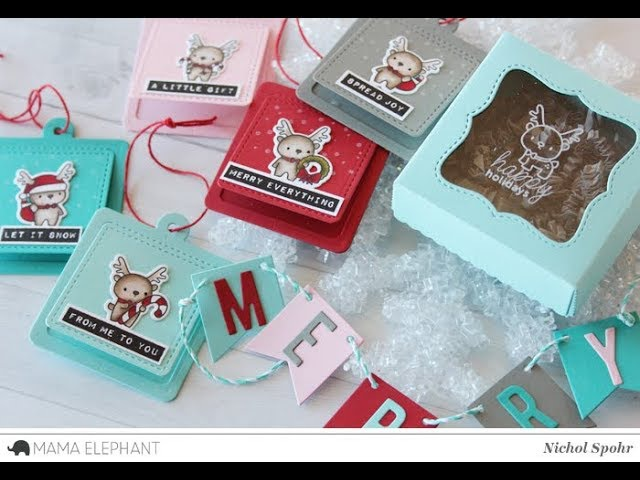 Mama Elephant Designer Series | Little Reindeer Agenda Holiday Tags Gift Set