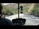 Victoria falls flight down gorge in helicopter, Apr 2017