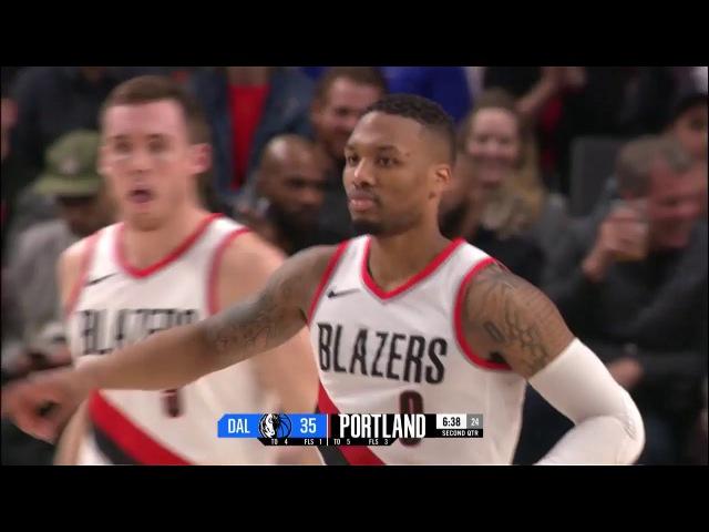Portland Trail Blazers with Season-High 18 Threes vs. Dallas Mavericks | January 20, 2018