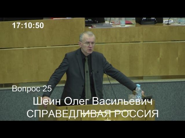 Выступление Олега Шеина на пленарном заседании Госдумы