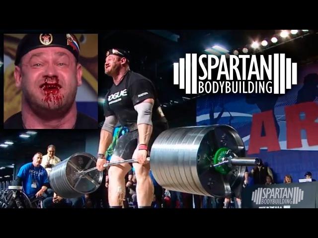 Mikhail Shivlyakov deadlift at 2018 Arnold Strongman Classic 426kg 939lbs Spartan Bodybuilding