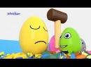Яйца с сюрпризом и молоток Учим цвета Surprise eggs 2 Развивающий мультик для детей