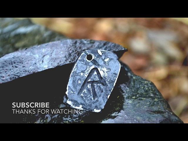 Blacksmithing - Forging Viking Rune Pendants
