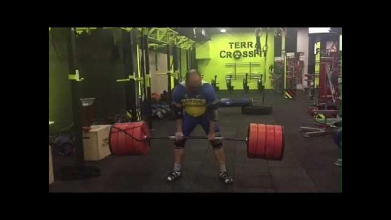 Газаев Валерий подъем Зерхера 230 кг с нижней точки.